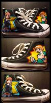 Scott Pilgrim Chucks by blobjelly
