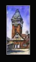 Water tower of hospital in Zabrze by sanderus