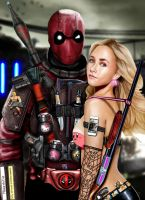 Deadpool x Claire Bennet by HeroforPain