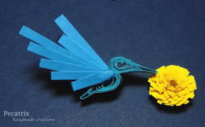 Quilled Hummingbird by pecatrix
