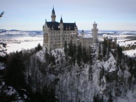 Neuschwanstein castle by Fatal-Fury