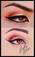 Bronze eyeshadow- Croqui x Photo by Lally-Hime