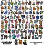 Many Many Custom Keychains! (ALL 97!!) by SoftMonKeychains