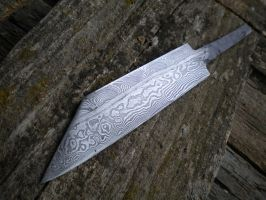 Damascus composite seax blade by hellize