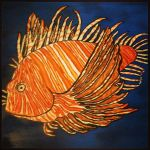 Large Lionfish Painting by JadasArtVision