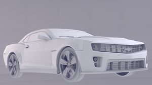 Camaro ZL1 clay render by cesterical