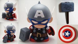 Captain America Thor Munny by xf4LL3n