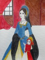 Queen Anne and the Princess by EmpressofHeaven