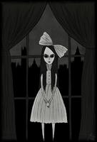 That little girl in flat 4D by TheMorbidMaria