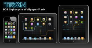 Tron iOS Wallpaper Pack by deebeeArt