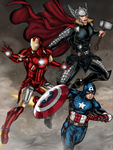 Avengers Assemble! by vindications
