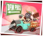 DFW Pugs! by SnazzyDoodle