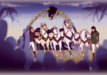 The King's Games - Spring - Horse Pull by Darya87