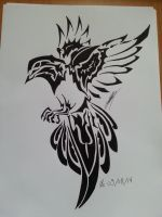 Bird Tribal by lugialagia
