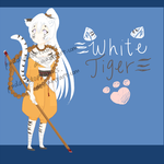 White Tiger Girl Adoptable $6 -- OPEN!~~ by PuddiAdoptables