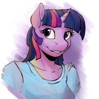 Anthro Twilight Sparkle Bust by Acesential