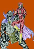 Flash vs Grodd by theaven