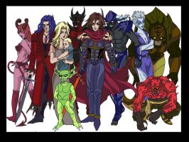 The Hellhound character lineup by 00hellhound00