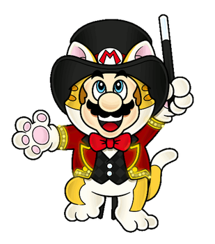 It's a Super Cat Mario Extravaganza by The-PaperNES-Guy