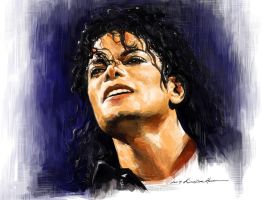 Michael Jackson in Bad Tour by darkdamage