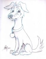 Puppy Caricature by timmcfarlin