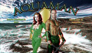 Aquaman Wallpaper Anaglyph by Geosammy