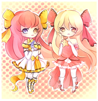 Elissia and Victoria by mochatchi