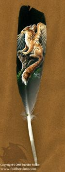 Rufous Gryphon Feather by Nambroth