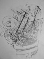 Tattoo design shipwreck by damnedqueen34