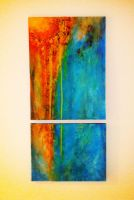 Untitled: Acrylic 18x36'' by silvertales
