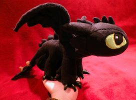 Mini Toothless plush v 1.1 by ShiroTheWhiteWolf