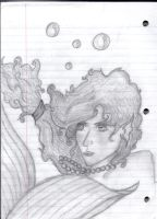 Mermaid GET OUT OF MY NOTEBOOK by SilverLizzy5