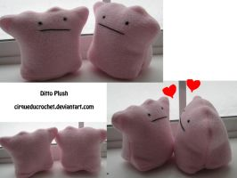 Ditto Plushie by cirqueducrochet