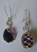 Amethyst earrings by GeshaR
