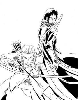Aragorn and Legolas by thenumber42