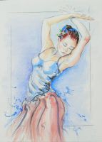 Ballerina in Watercolor by veridian-two