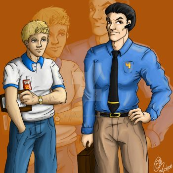 Gordon and Edward :: Colors by ElisitaGayle