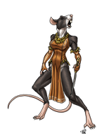 Plague of Paucity: Female Wererat by ProdigyDuck