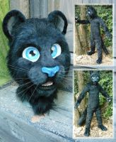 black panther closeup by LilleahWest