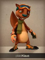 Xtreme Squirrels: Seppe 3D #02 by plaidklaus