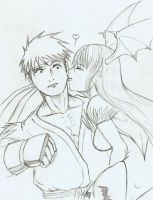 Morrigan vs... Ryu? by MonkeyTheMan