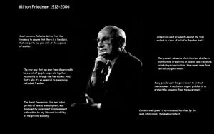 Milton Friedman wallpaper by toolshed333