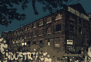 Industrial Wallpaper by lucasitodesign