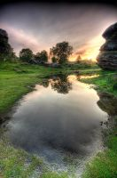 Brimham Sunrise by taffmeister