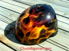 Skater Bicycle Helmet Flames by crb1177