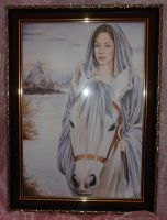 Commission Arwen in picture frame by laMatitadArgento