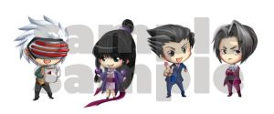 BOOKMARKS . Phoenix Wright Set by LittleDogStar