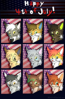 4th of July Gifts 2012- Felines by MidnightAlleyCat
