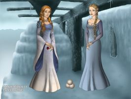 Elsa and Anna - G.O.T by Astrogirl500