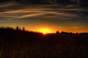 Lithuanian yellow sunset by MrFotkerman